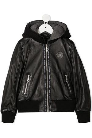 Philipp Plein Institutional hooded bomber jacket