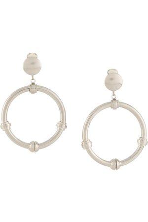 Gianfranco Ferré Pre-Owned 2000s dangling hoop earrings