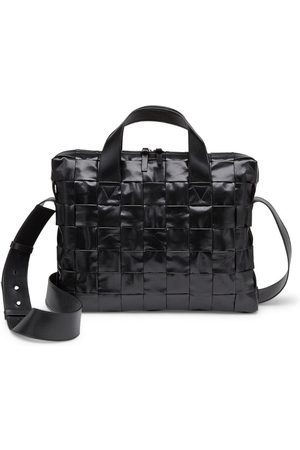 Bottega Veneta Patent Leather Cassette Briefcase