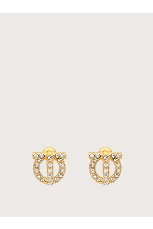 Salvatore Ferragamo Women Gancio 3D earrings with crystals