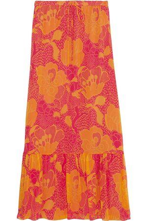 Diane von Furstenberg Woman Camila Printed Silk-chiffon Maxi Skirt Size 6