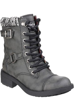 Rocket Dog Women Biker Boots - Thunder Lace Up Ankle Boots