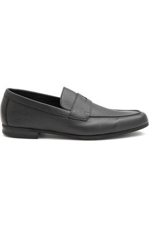 JOHN LOBB Thorne Pebble-grain Leather Penny Loafers - Mens