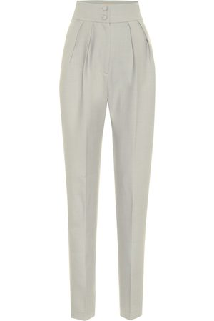 Matériel Tbilisi Women Formal Trousers - High-rise stretch wool-blend twill pants