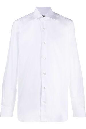 BARBA Spread collar tailored shirt