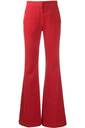 pushBUTTON Flared corduroy trousers