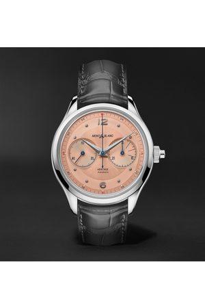 Mont Blanc Heritage Monopusher Automatic Chronograph 42mm Stainless Steel and Alligator Watch, Ref. No. 126078