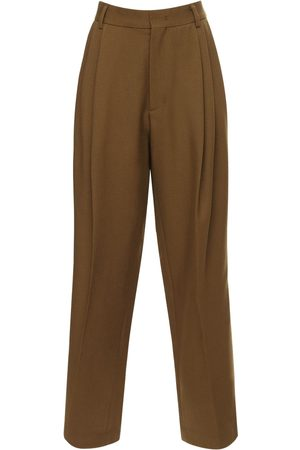 We11 Done Pleated Baggy Wool Pants