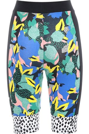 adidas Printed Stretch Cotton Biker Shorts