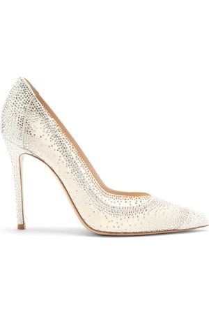 Gianvito Rossi Rania Cystal-embellished Suede Pumps - Womens