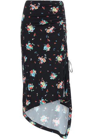 Paco rabanne Printed Wrap Viscose Midi Skirt
