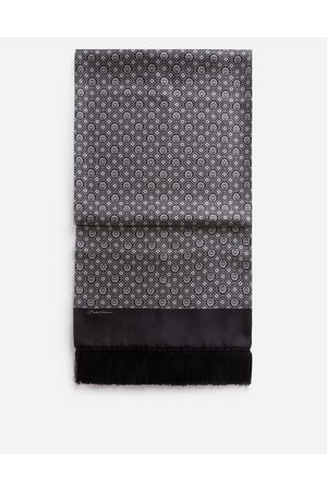 Dolce & Gabbana Scarves and Silks - SILK JACQUARD SCARF WITH FRINGING