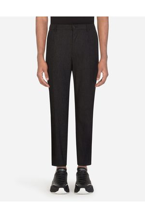 Dolce & Gabbana Men Trousers - Trousers and Shorts - PINSTRIPE STRETCH WOOL PANTS