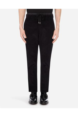 Dolce & Gabbana Men Trousers - Trousers and Shorts - SMOOTH VELVET JOGGING PANTS