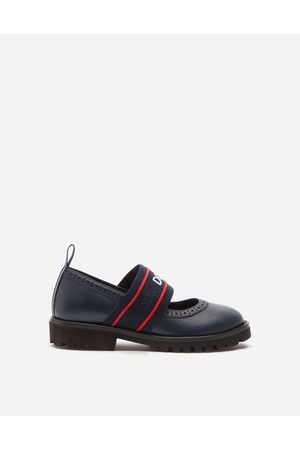 Dolce & Gabbana Girls Brogues - Shoes (24-38) - LAMBSKIN MARY JANES WITH BRANDED ELASTIC