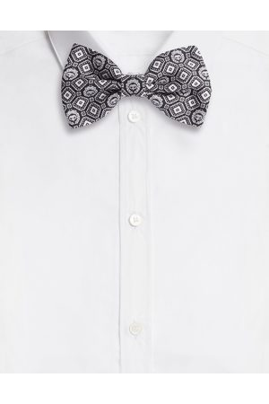 Dolce & Gabbana Men Bow Ties - Ties and Pocket Squares - DIAMOND-DESIGN SILK JACQUARD BOW TIE
