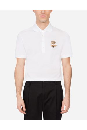 Dolce & Gabbana T-Shirts and Polos - COTTON PIQUÉ POLO SHIRT WITH FRENCH WIRE PATCH
