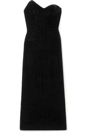MONIQUE LHUILLIER Woman Strapless Velvet Midi Dress Size 12