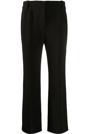 Fendi Crease-detailing flared trousers