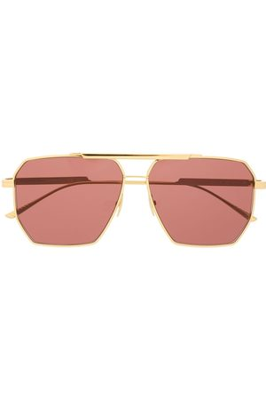 Bottega Veneta Navigator-frame sunglasses