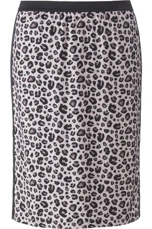 Emilia Lay Jersey skirt leopard skin print multicoloured size: 18