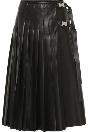 Prada Pleated leather skirt