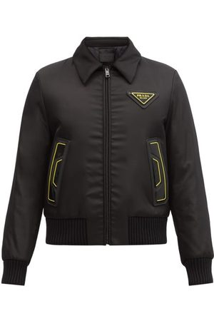 Prada Logo-patch Padded-shell Bomber Jacket - Mens