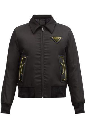 Prada Men Bomber Jackets - Triangle Logo-patch Padded-shell Bomber Jacket - Mens