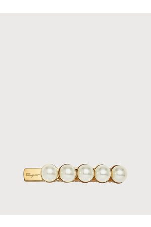 Salvatore Ferragamo Women Fantasia hairclip with synthetic pearls