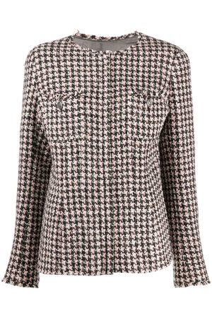 CHANEL Women Jackets - 2008 single-breasted tweed houndstooth jacket