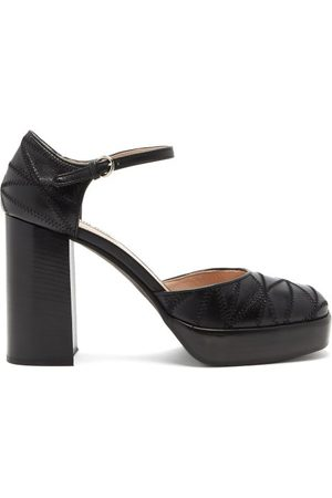 Miu Miu Mary Jane Patchwork-leather Pumps - Womens