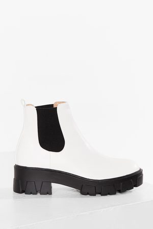 NASTY GAL Womens MONSTER CLEATED CHELSEA BOOTS - - 3
