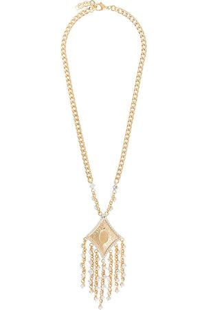 Alessandra Rich Women Necklaces - Crystal-fringed necklace