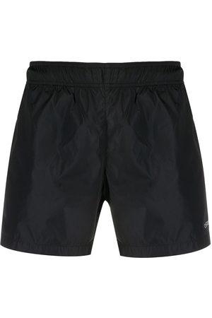 OFF-WHITE Logo print swim shorts