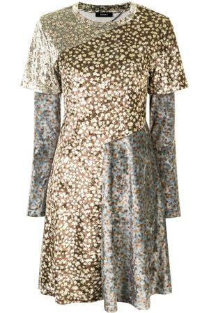 GOEN.J Floral-print panelled dress