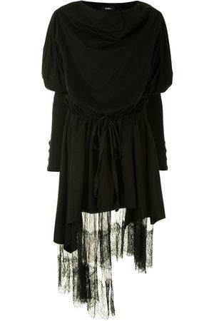 GOEN.J Lace trim layered dress