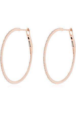 Dana Rebecca Designs 14kt rose diamond hoop earrings