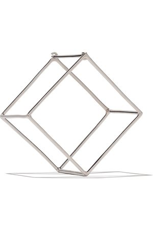 SHIHARA 18kt 3D 25mm Square earring