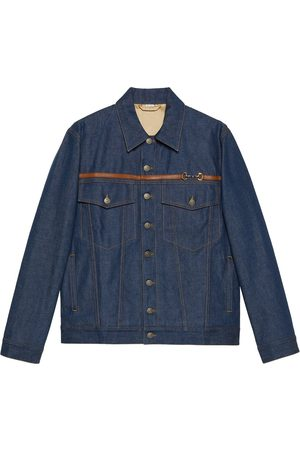 Gucci Horsebit detail washed denim jacket
