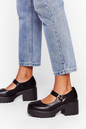 Nasty Gal Womens Shoe Are You Faux Leather Mary Jane Shoes - - 8