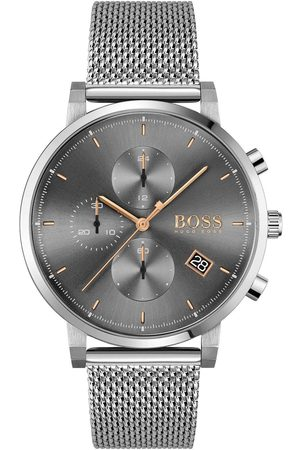 HUGO BOSS Integrity Grey Chronograph Rose Accents Stainless Steel Bracelet Watch