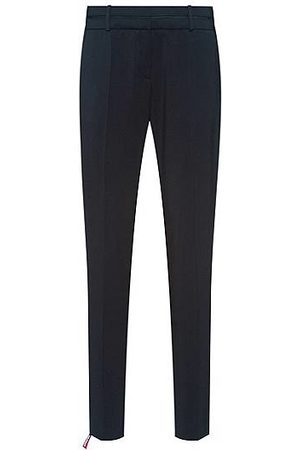 HUGO BOSS Slim-fit trousers in crease-resistant stretch virgin wool