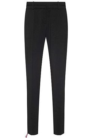 HUGO BOSS Women Formal Trousers - Slim-fit trousers in crease-resistant stretch virgin wool
