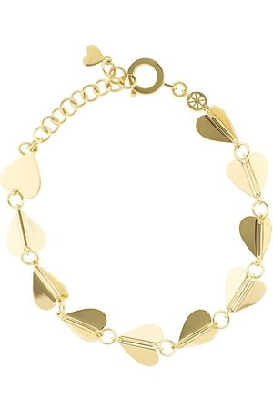 Cadar 18kt yellow Wings of Love medium heart bracelet