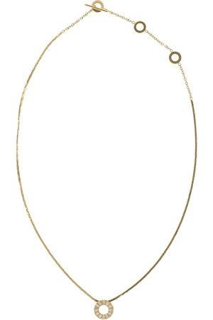 Cadar 18kt yellow Solo diamond pendant necklace