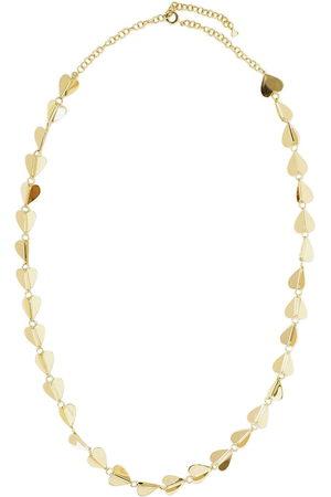 Cadar 18kt yellow medium Wings Of Love heart necklace