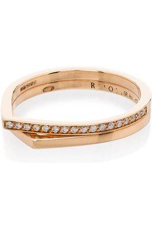 Repossi 18kt rose Antifer diamond double ring