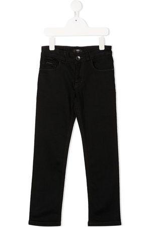 HUGO BOSS Logo print straight-leg jeans