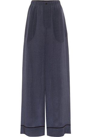 Fendi Polka-dot silk wide-leg pants