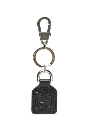 Gucci GG-monogram Perforated-leather Key Ring - Mens